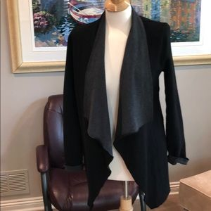 Majestic Paris black and gray open cardigan size 2